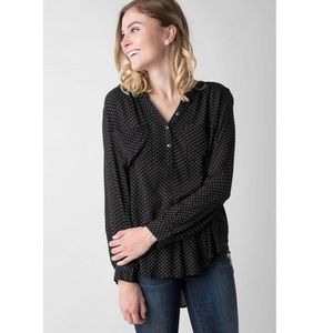Amuse Society Black Amour High Low Henley Top